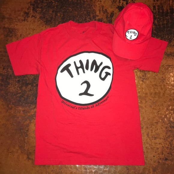 af32e6264f9e Universal Tops   Dr Seuss Thing 1 Hat Thing 2 Tee   Poshmark